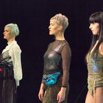 Models on stage