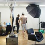 Backstage Shooting HDA 2013 mit Alex Lepschi und Stefan Dokoupil