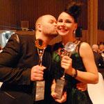 auch die Partnerin von Alexander - Claudia Anzinger freute sich über den Erfolg von Alexander