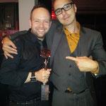 Alexander Lepschi frisch ausgezeichneter DAMEN Hairdresser 2013 mit Profifotograf Stefan Dokoupil