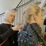 Claudia Behnke (UK) sorgte mit den Kleidern von Marko Mitanovski fürs perfekte Styling unserer Models ...