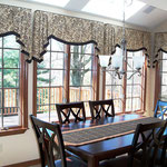 Custom valances in the client's breakfast area