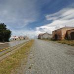 Alte verlassene Estancia auf dem Weg nach Punta Arenas
