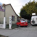 Unser Schlafplatz in Punta Arenas