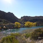 Fruchtbares Tal im Canyon de Atuel