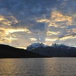 Sonneuntergang an der Laguna Azul
