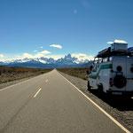 Auf dem Weg nach El Chaltén