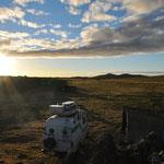 Wunderschöner wilder Camping im NP Pali Aike