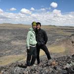 Auf dem Vulkan El escordial del Diablo