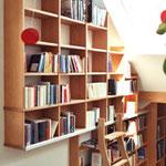 Bibliothek Buche massiv