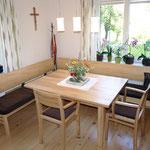 Eckbank Tanne massiv, Tisch ausziehbar Braunesche massiv
