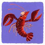 『ろ』[ro] ロブスター robster「ロボットダンスをしてるロブスター 」