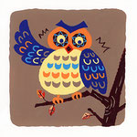 『ふ』フクロウ owl「太り過ぎのフクロウ」