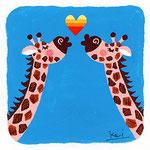 『き』キリン giraffe 「キリンのキッス」