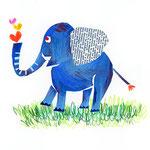 「E」Elefante 象 elephant