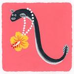 『ん』[N] ンナジ eel「ンバナのネックレスがお気に入りのンナジ」沖縄の方言 (お花のネックレスがお気に入りのうなぎ)