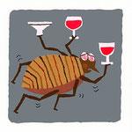 『の』ノミ flea「飲みすぎたノミ」