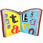 「L」Libro 本 book
