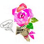 「R」Rosa バラ rose