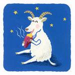 『や』[ja] ヤギ goat「やみ夜に焼き芋食べてるやさしい顔のヤギ」