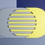 Centre de table Lines / couleur jaune souffre RAL 1016  n° 27 et gris n°2
