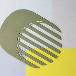 Centre de table Lines / couleur kaki  n° 16