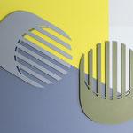 Centre de table Lines / couleur kaki  n° 16 et gris n°2
