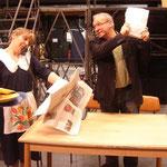"""Als Regisseur im """"Nackten Wahnsinn"""" 2010 Theater Vorpommern"""