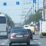 Über den Moskau-Prospekt geht´s zurück in die City