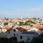 Blick vom Hotelbalkon auf die Altstadt von Mal Losinj