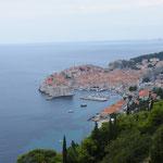 Noch ein Mal passierten wir die Perle der Adria - Dubrovnik