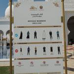Kleiderordnung für die Moschee