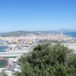 Blick von Gibraltar nach Norden nach spanien