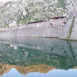Die Stadtmauer von Kotor