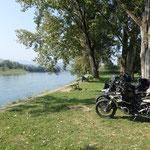 Pause an der Drina