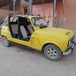 R 4 Cabrio mit Massivholzschweller :)