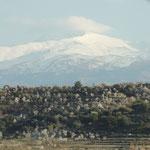 Schnee auf den Gipfeln der Sierra Nevada