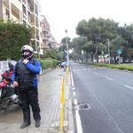 """In Cagliari hieß es erneut """"rein in die Regenklamotten"""""""