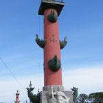Eine der Rostra-Säulen auf der Wassiljewski-Insel