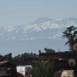 Toller Blick über die Dächer von Marrakesch in den hohen Atlas