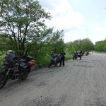 Noch eine Pause vor der weißrussischen Grenze