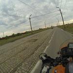 Wir verlassen Galati in Richtung der moldawischen Grenze