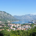 Tolle Ausblicke auf die Bucht von Kotor...