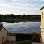 Blick aus dem Hotelzimmer auf die Loire