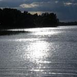 Abendstimmung am Saimaa, dem größten See Finnlands