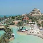 Auch ein Aquapark darf auf der Palme nicht fehlen
