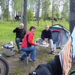 Abendessen vom Campingkocher