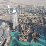 """Blick auf die Dubai Mall und dem Hotel """"The Adress"""""""