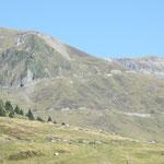 Blick hinauf zum Col du Tourmalet