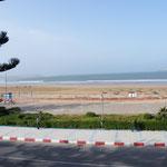 Blick vom Hotelbalkon auf den Atlantik